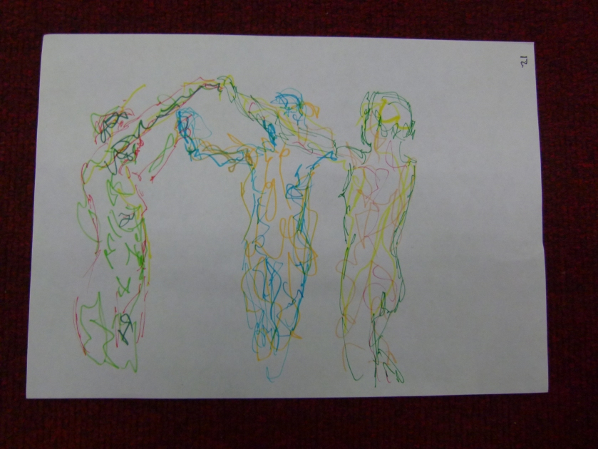 The final pose; the three Graces