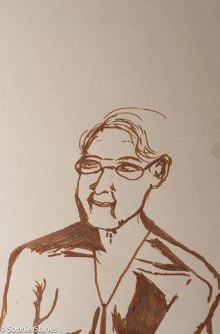 Drawing of Arleen made at this event