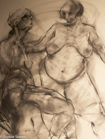 charcoal drawing by Cloe Cloherty