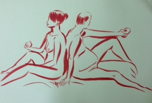 Drawing by Lily from recent event at Holborn