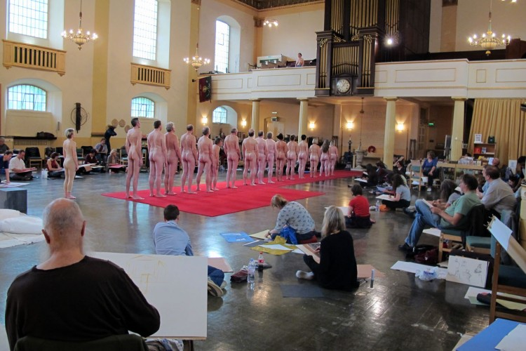From our 2013 event at St John's church, Waterloo, with the Drawing Theatre - A Human Orchestration. Models created a soundscape